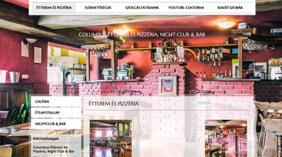 Columbus Étterem és Pizzéria, Night Club & Bar